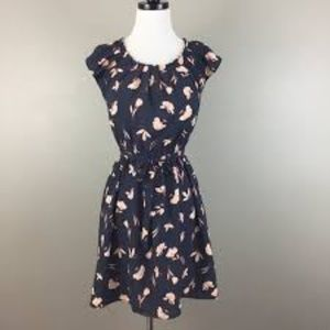 NWOT! Lauren Conrad Navy Floral Dress Sz XL